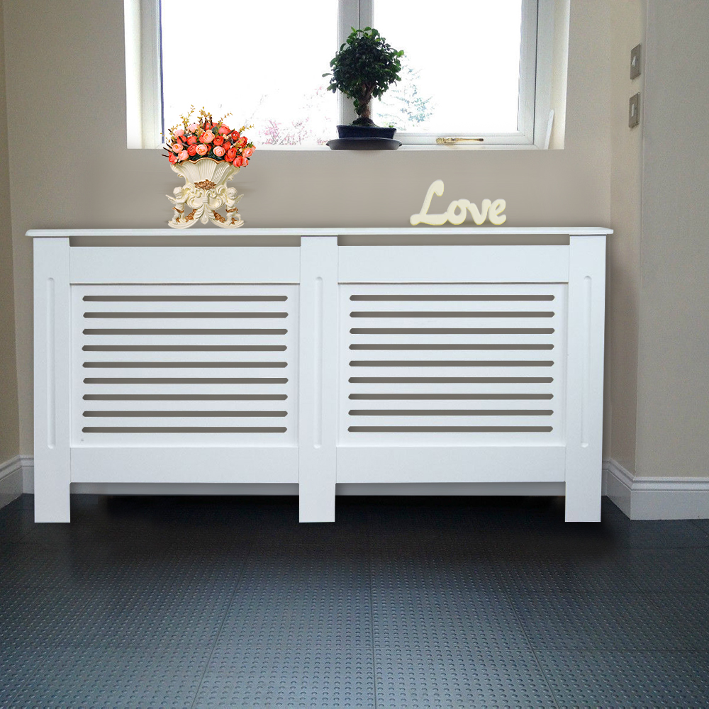Modern Radiator Cover Wall Cabinet Mdf Horizontal Slats