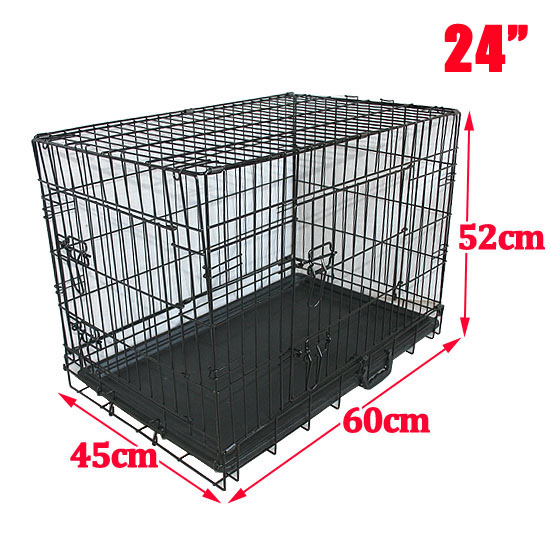 Metal Dog Cage Crate Puppy Pet Carrier Training Folding