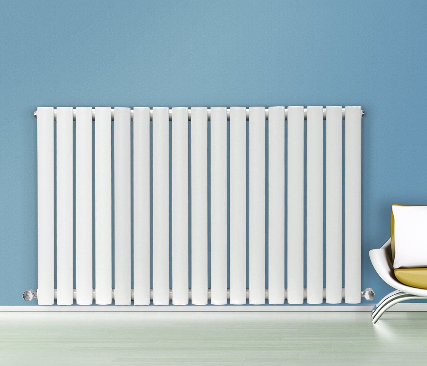 Horizontal Designer Radiator Oval Column Panel Rad Modern Central ...