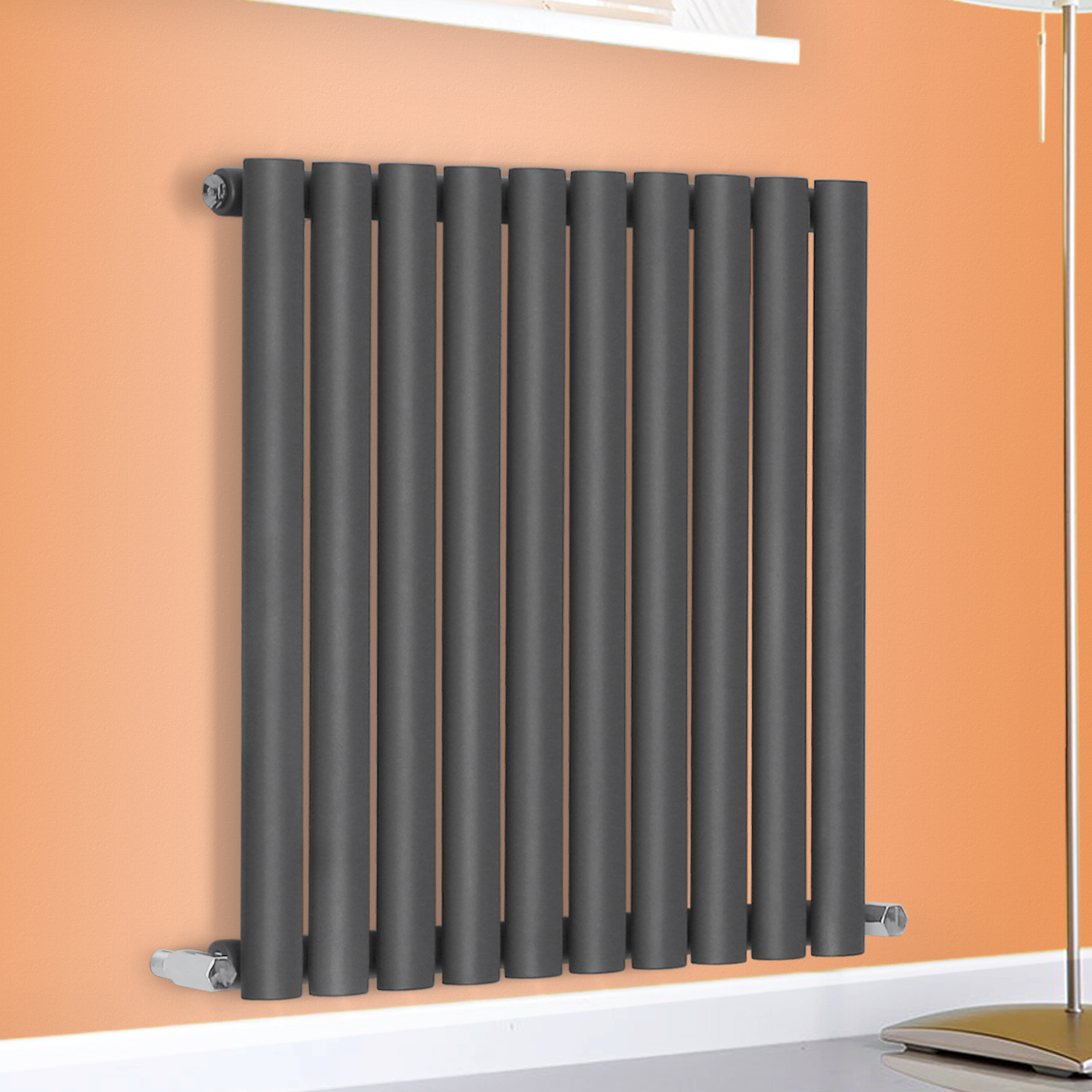Horizontal Radiator Designer Oval Column Bathroom Heater