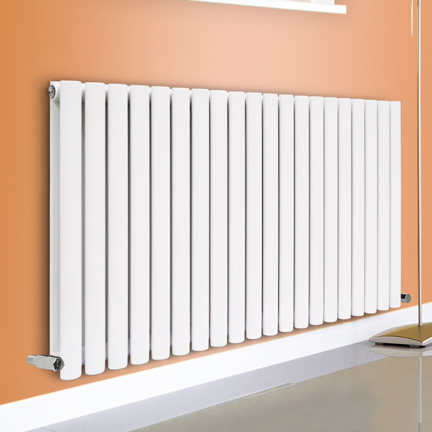 Horizontal Designer Oval Column Panel Bathroom Radiators