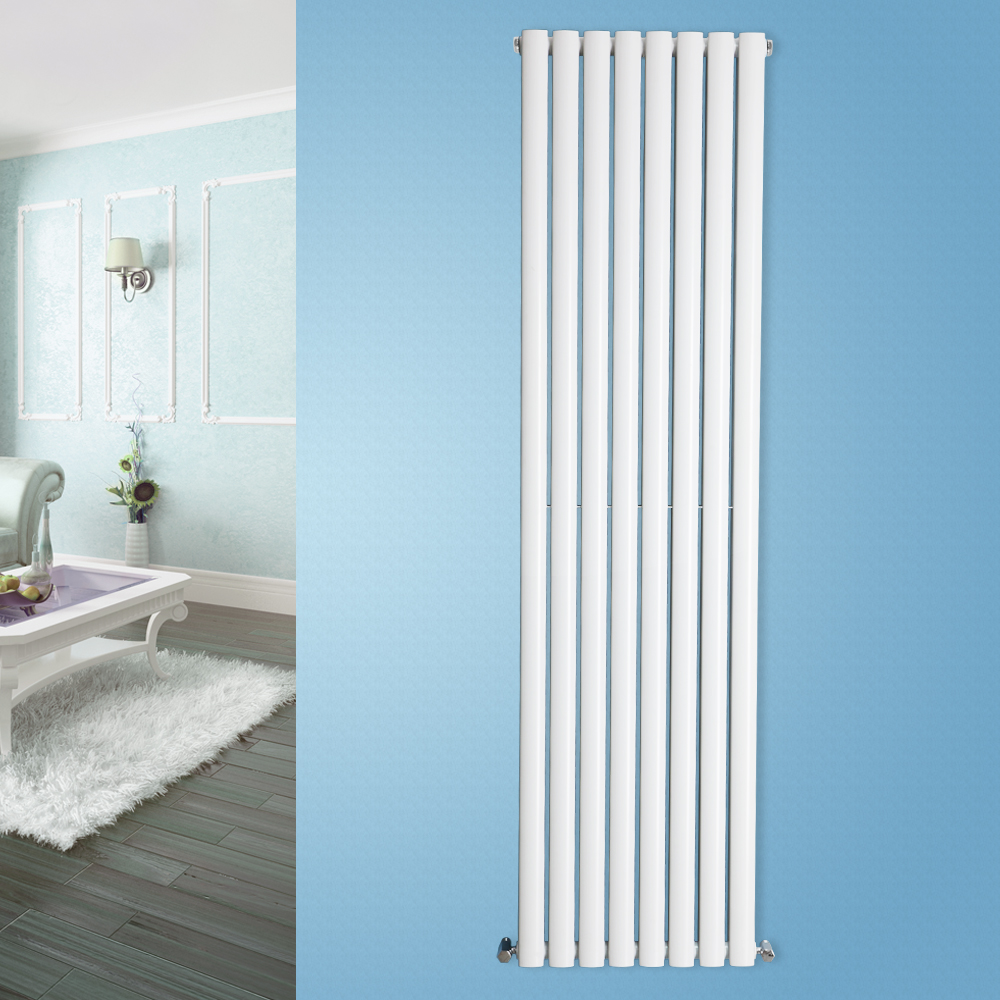Designer Vertical Modern Upright Oval Single Column Radiator UK ...
