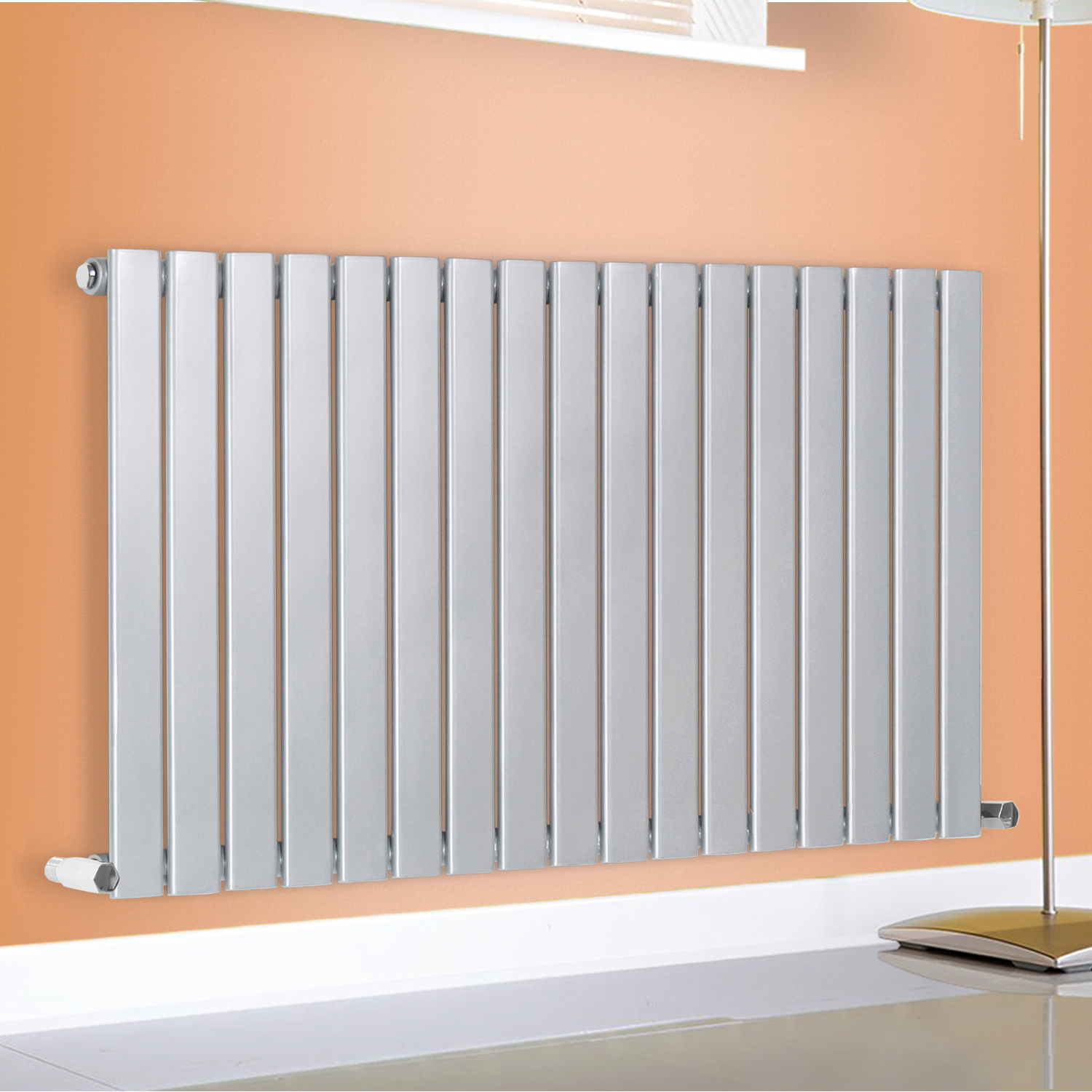 Horizontal Flat Panel Single Column Designer Modern Radiators Central Heating Ebay