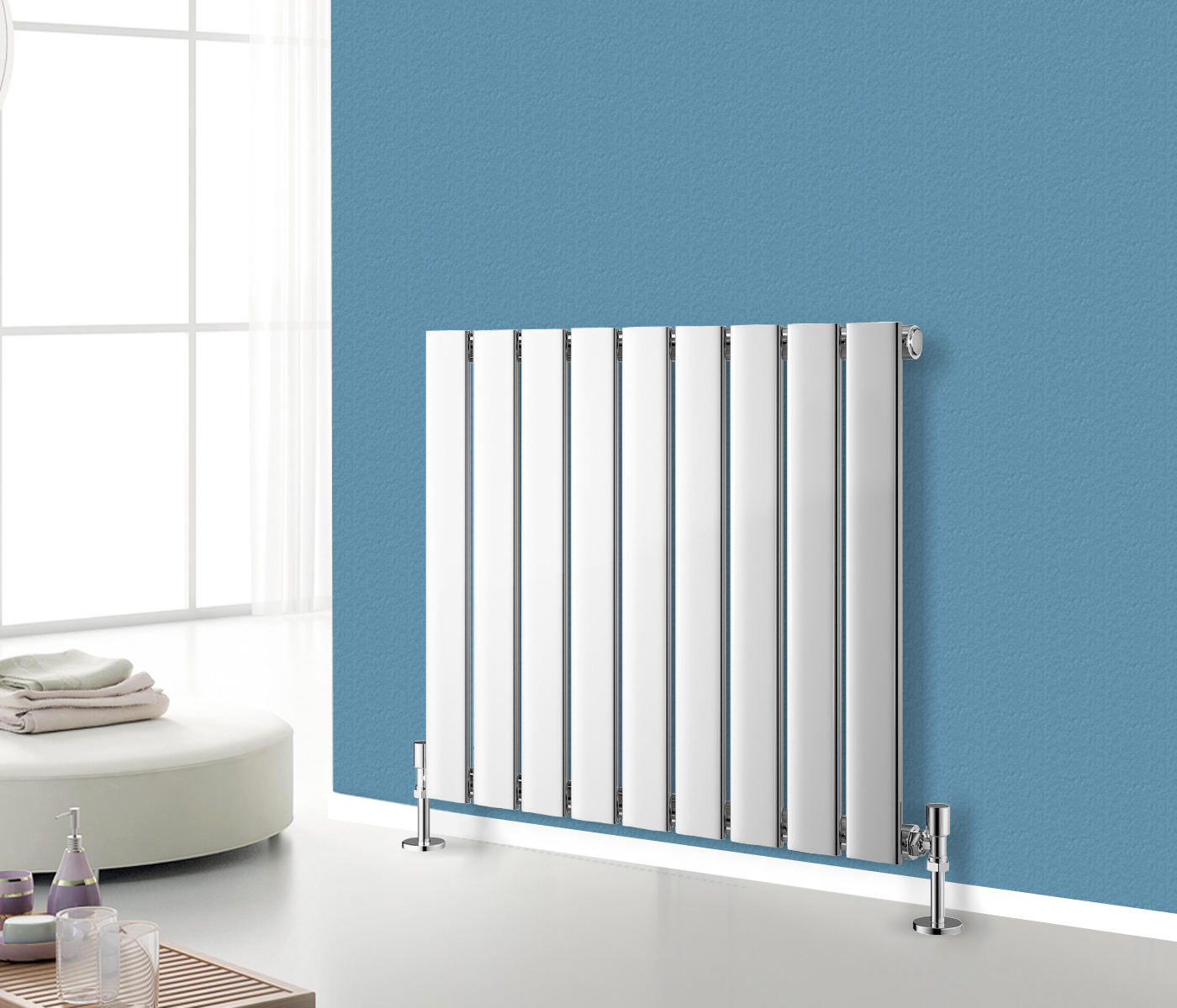 Horizontal Flat Panel Single Column Designer Modern Radiators ...