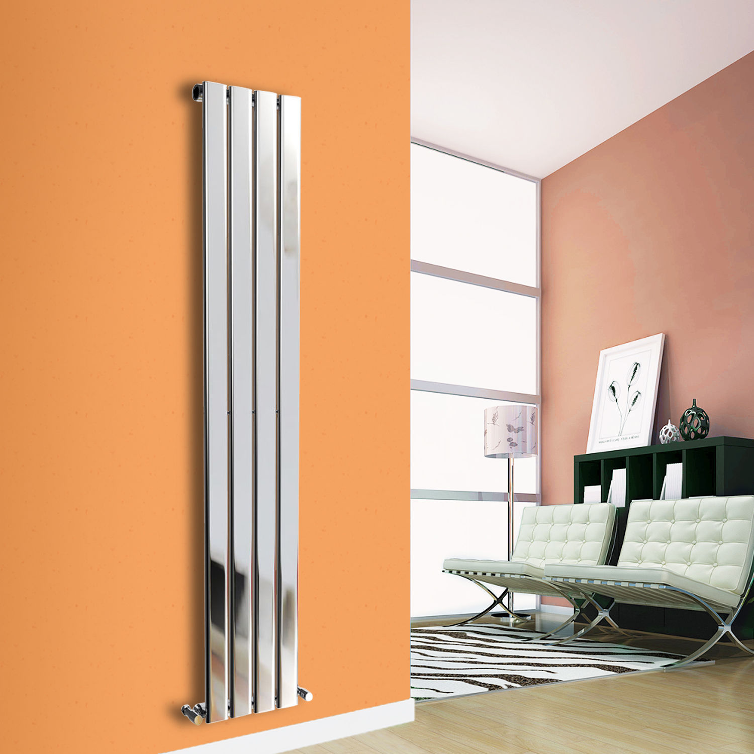 Vertical Radiator Designer Flat Panel Column Bathroom