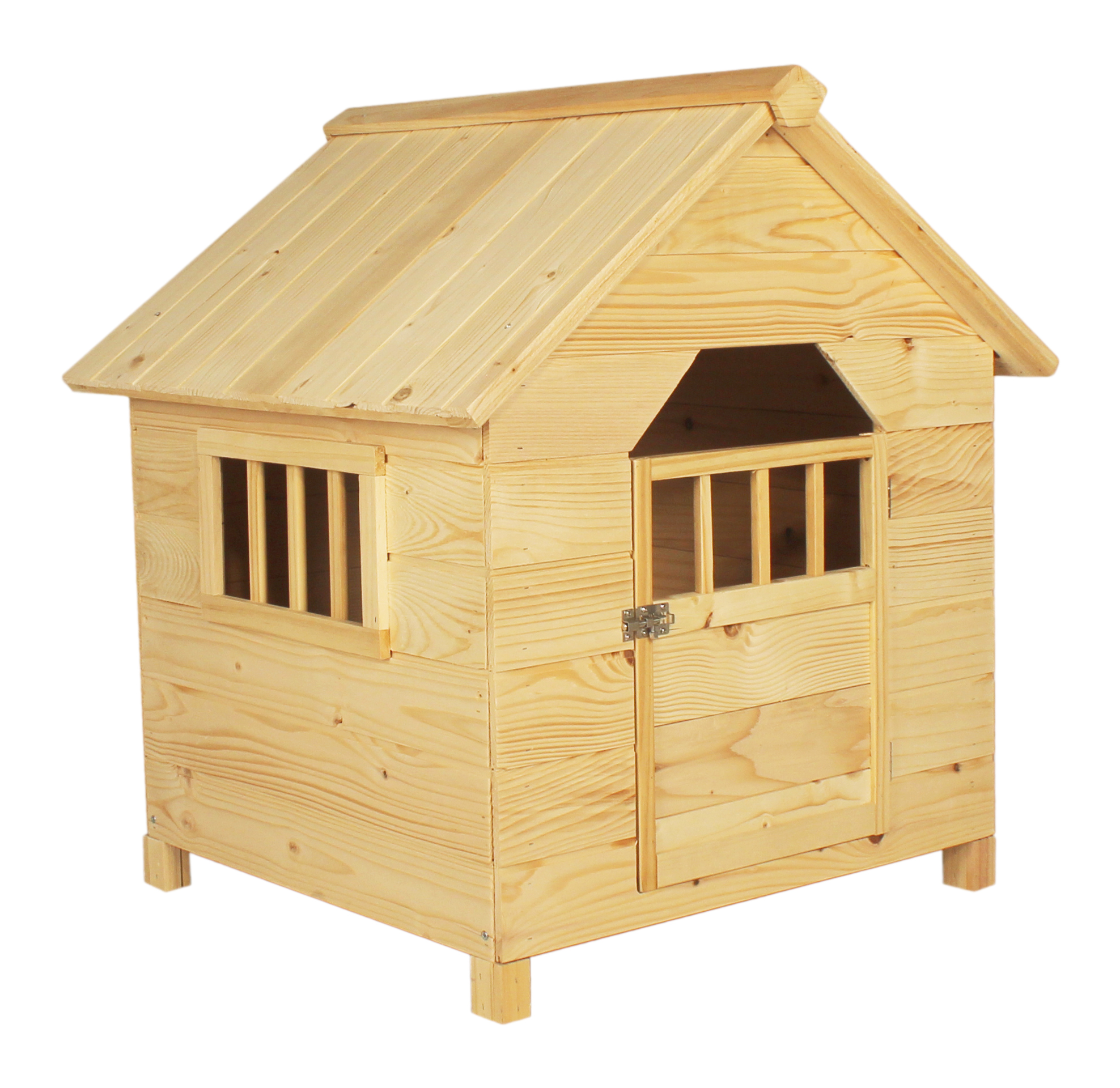 Solid Fir Wood Wooden Dog Kennel House Pet Shelter Bunny Rabbit