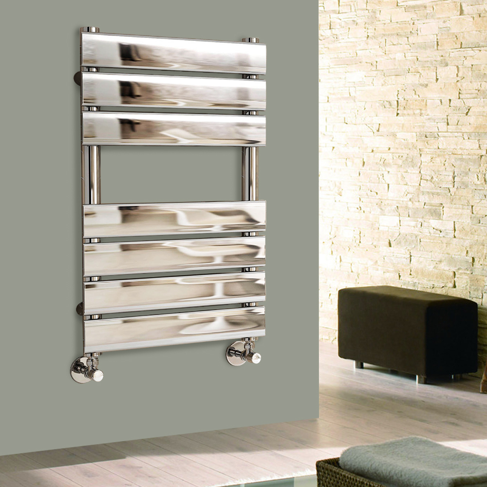 Designer Flat Panel Heated Towel Rail Bathroom Radiator UK ...