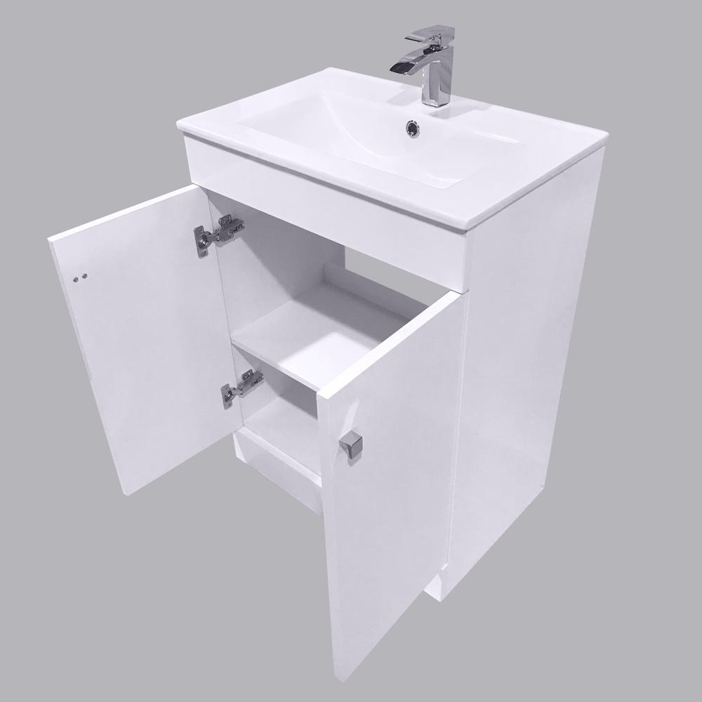 Bathroom-Basin-Vanity-Unit-Storage-Tall-Cabinet-WC-Toilet-Furniture-Gloss-White thumbnail 11