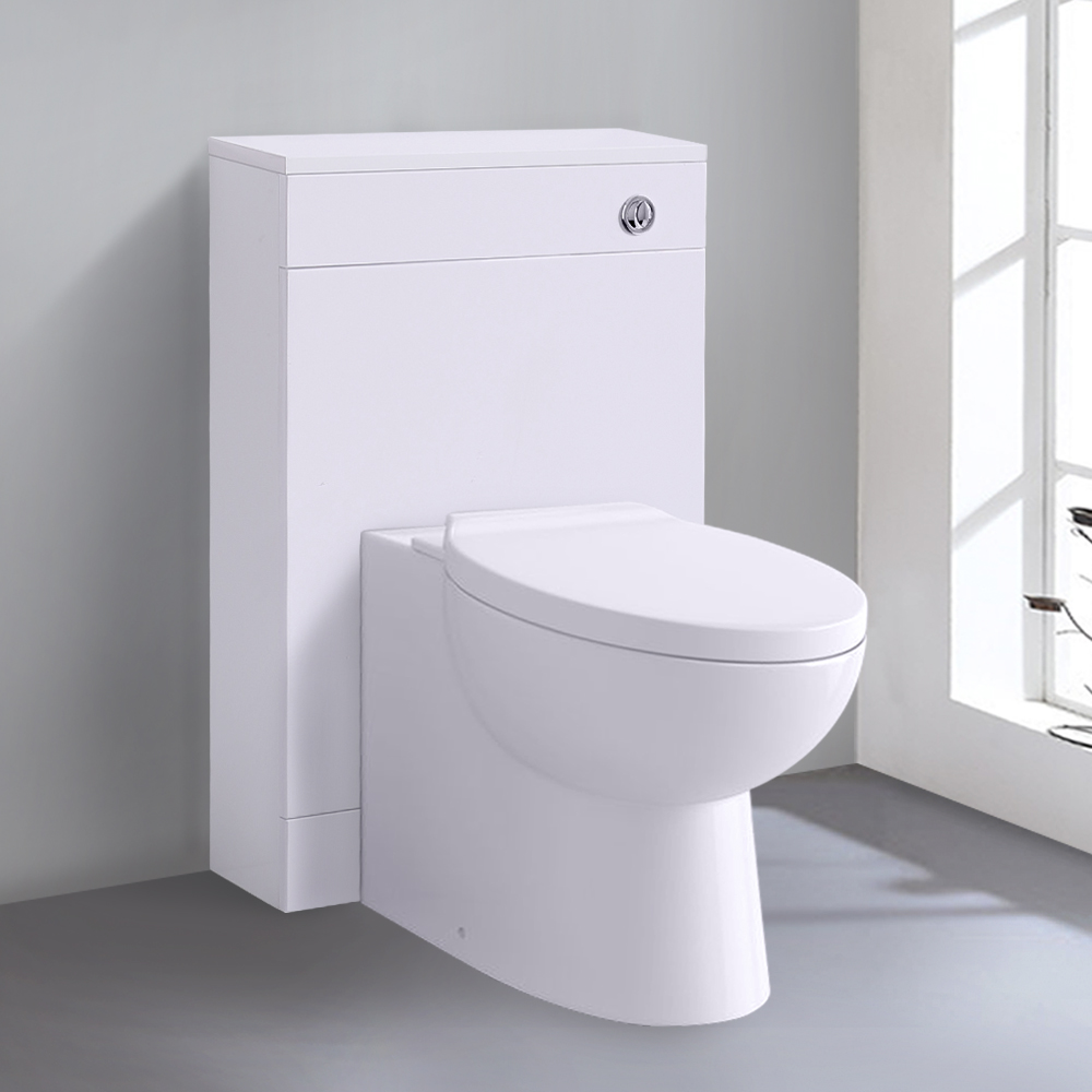Bathroom-Basin-Vanity-Unit-Storage-Tall-Cabinet-WC-Toilet-Furniture-Gloss-White thumbnail 20