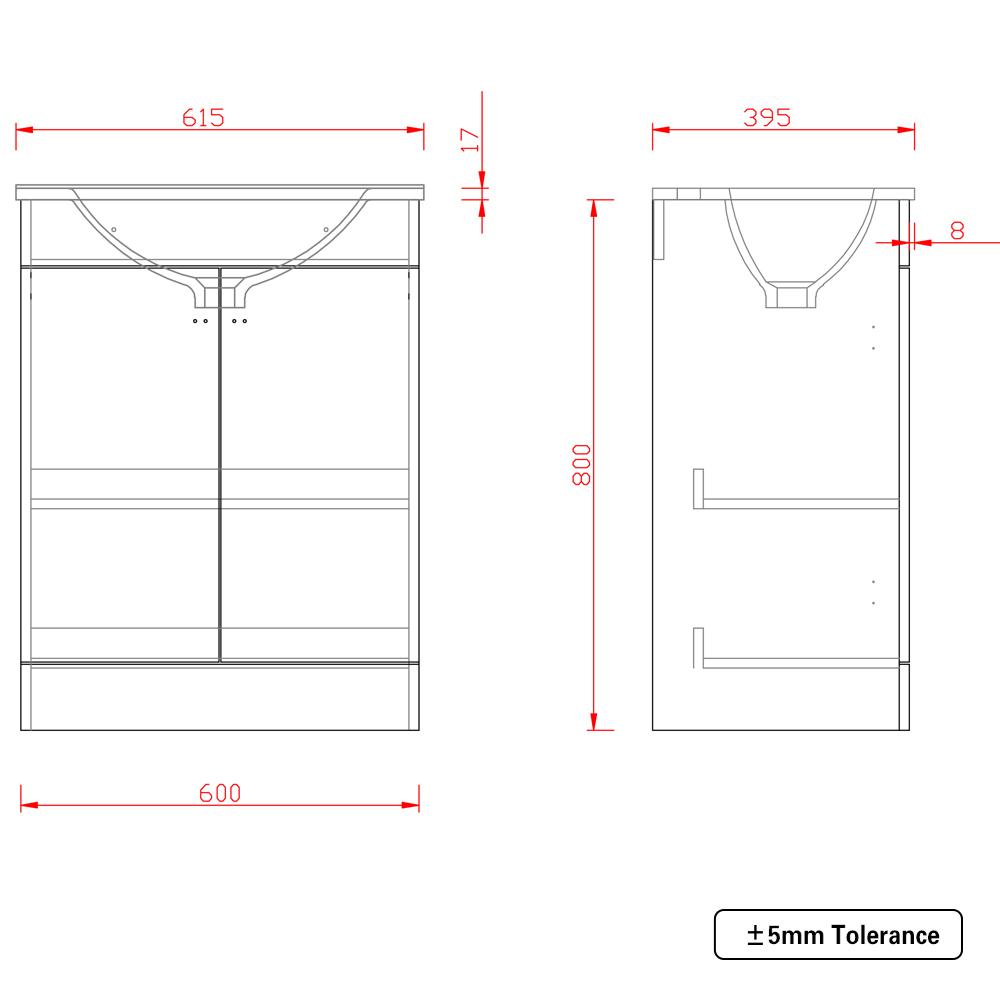 Bathroom-Basin-Vanity-Unit-Storage-Tall-Cabinet-WC-Toilet-Furniture-Gloss-White thumbnail 12