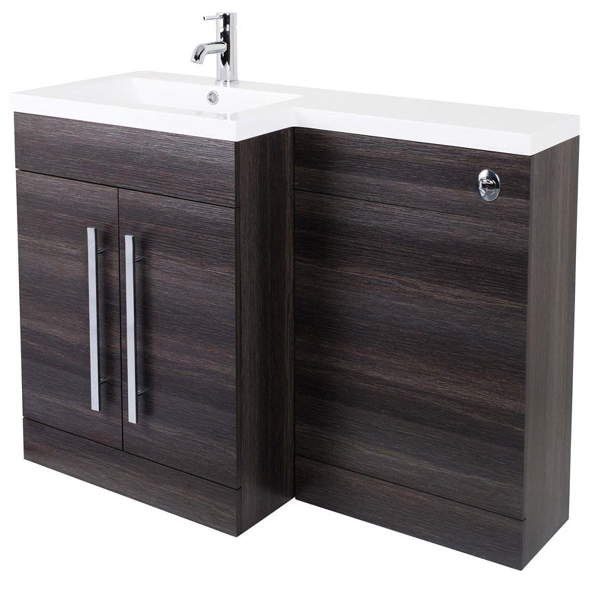Bathroom Basin Vanity Unit Toilet Combined Furniture Tall ...