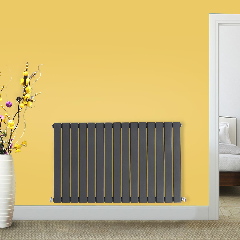 Anthracite-Designer-Radiator-Vertical-Horizontal-Flat-Panel-Oval-Column-Rads thumbnail 25
