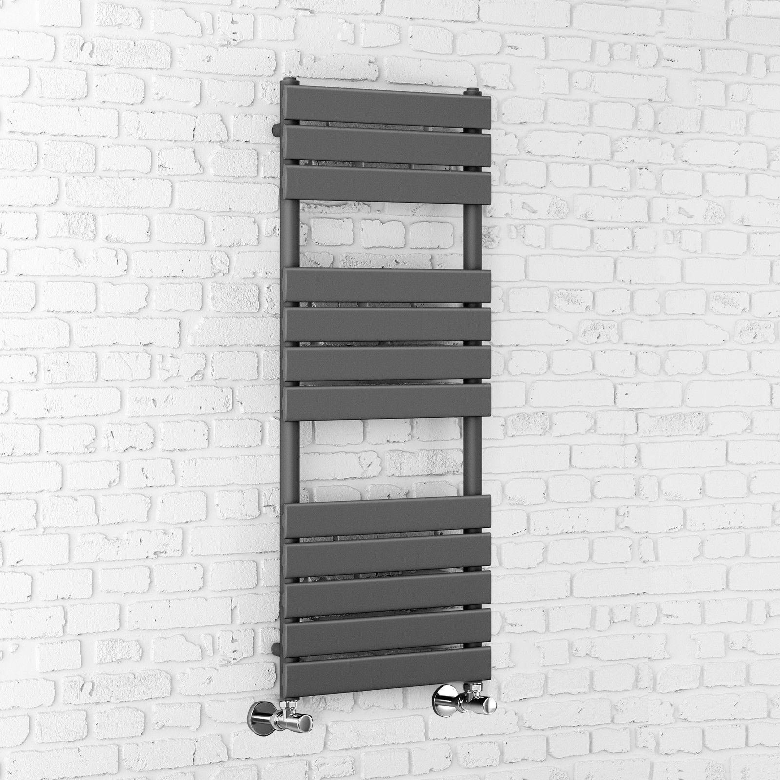 Anthracite Flat Panel Bathroom Heated Towel Rail