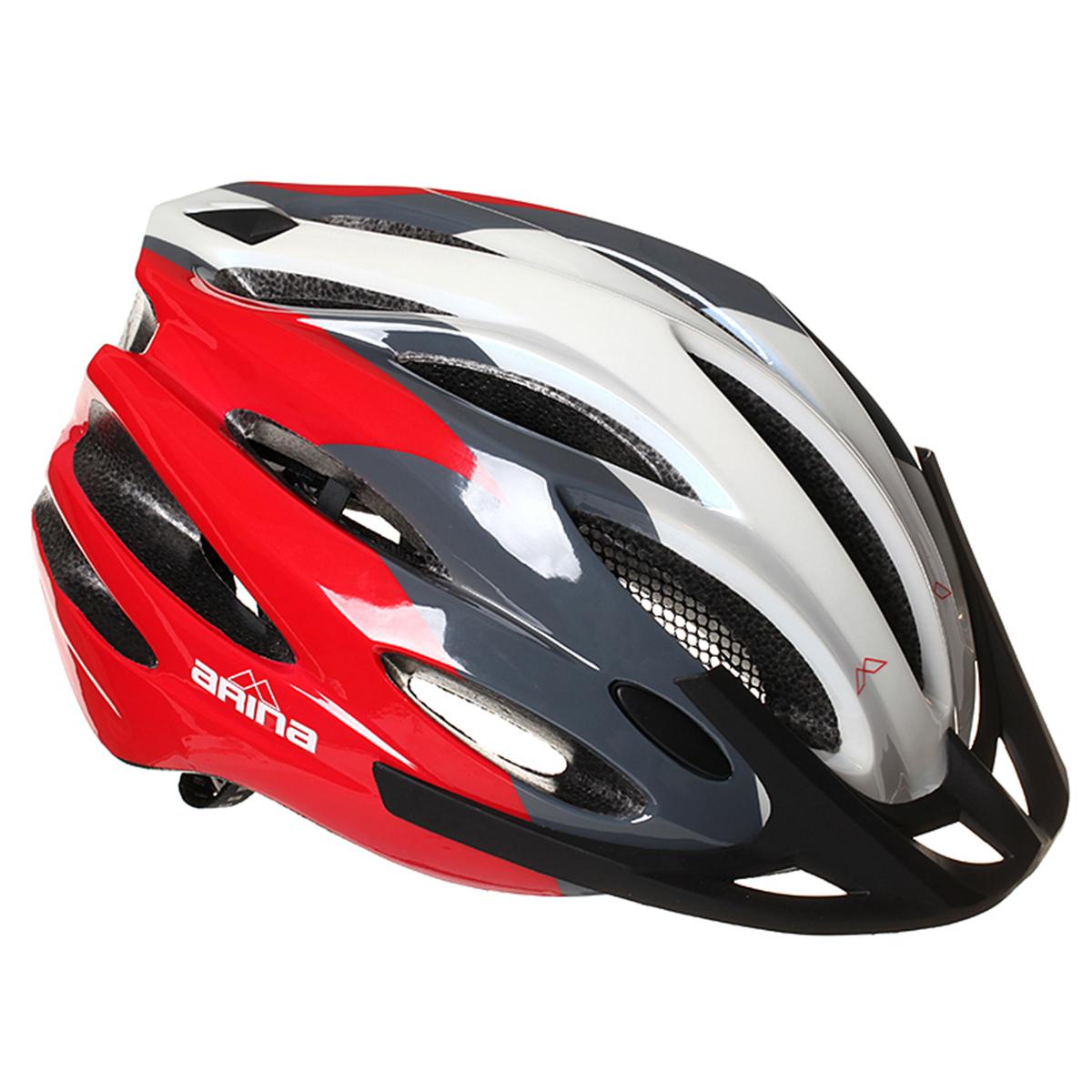 Arina Quest Helmet Bike Cycle Bicycle White Blue Red Medium 54-58Cm Yj-29