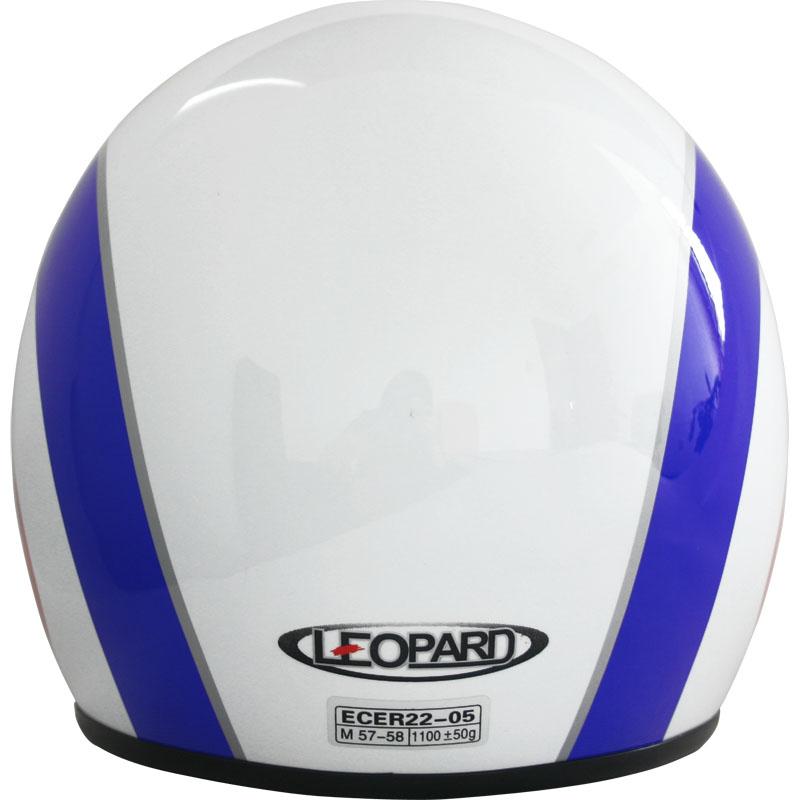 LEOPARD-LEO-604-Casques-jet-Casque-Bol-de-Moto-Scooter-Graphique-Cible