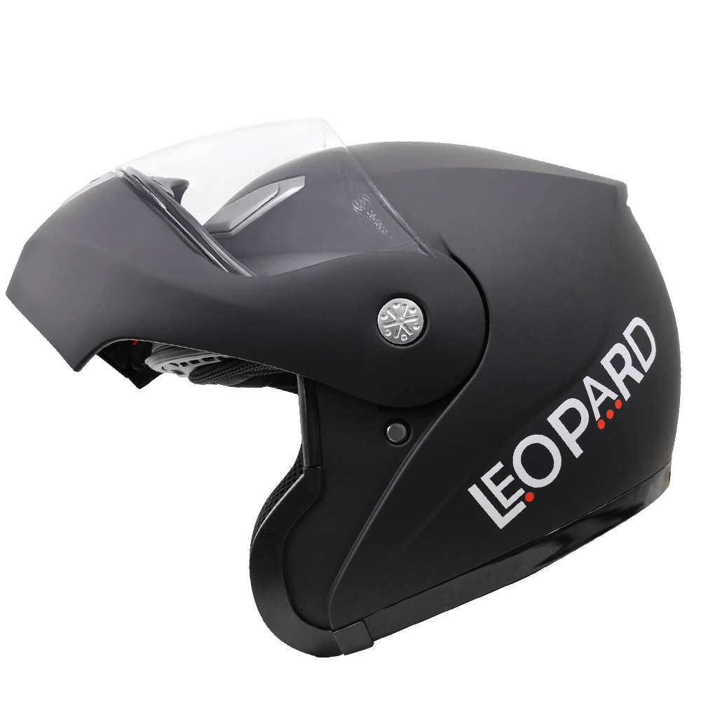 63-64cm Leopard LEO-717 Flip up Front Motorcycle Motorbike Helmet Pink XXL