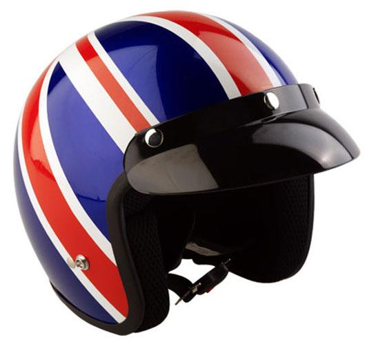 New Unisex Motorcycle Helmet British Union Jack Sign Protection Helmet