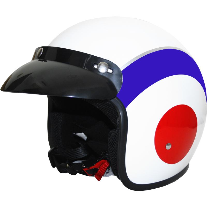 Casco-Moto-Jet-Scooter-Fibra-de-Vidrio-Retro-MOD-USA-Rojo-Leopard-LEO666