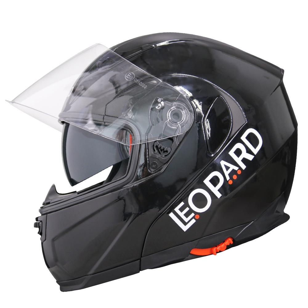 leopard safari casque moto casque de moto modulable double. Black Bedroom Furniture Sets. Home Design Ideas