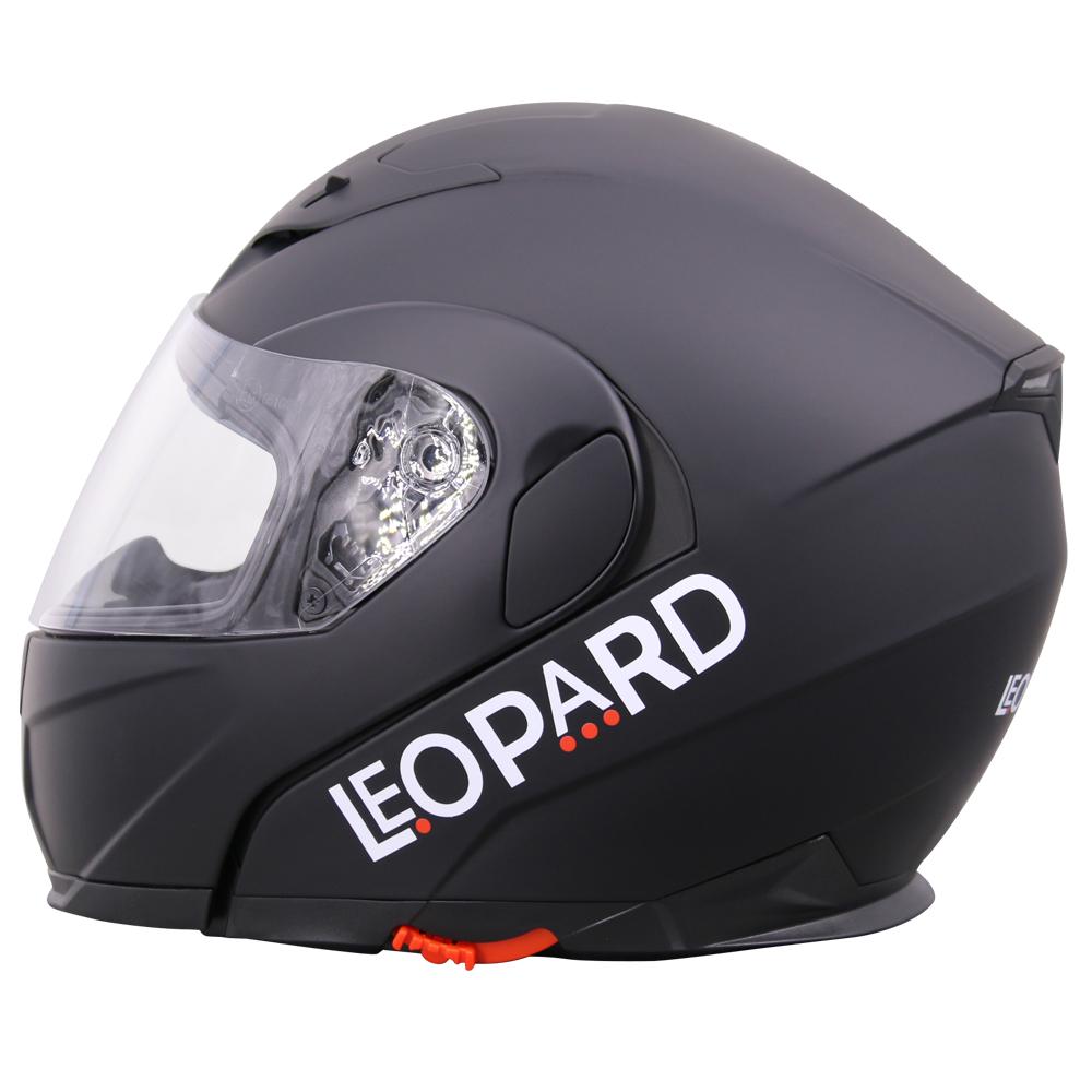 leopard safari casque moto casque de moto modulable double visi re noir rosa ebay. Black Bedroom Furniture Sets. Home Design Ideas
