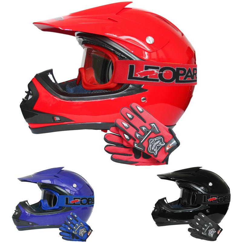 leopard leo x15 kinder moto cross helm motorradhelm offroad handschuhe brillem ebay. Black Bedroom Furniture Sets. Home Design Ideas