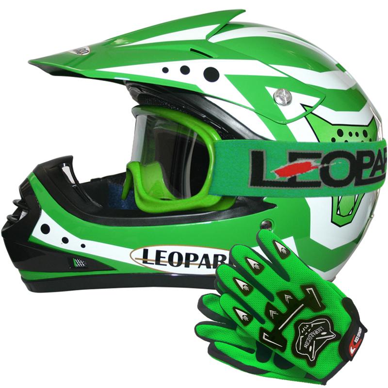 leopard leo x17 kinder motorradhelm motocrosshelm offroad handschuhe brille quad ebay. Black Bedroom Furniture Sets. Home Design Ideas