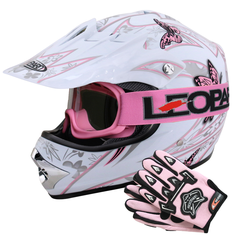 leopard leo x18 kinder motorradhelm motocross helm handschuhe brille quad atv ebay. Black Bedroom Furniture Sets. Home Design Ideas