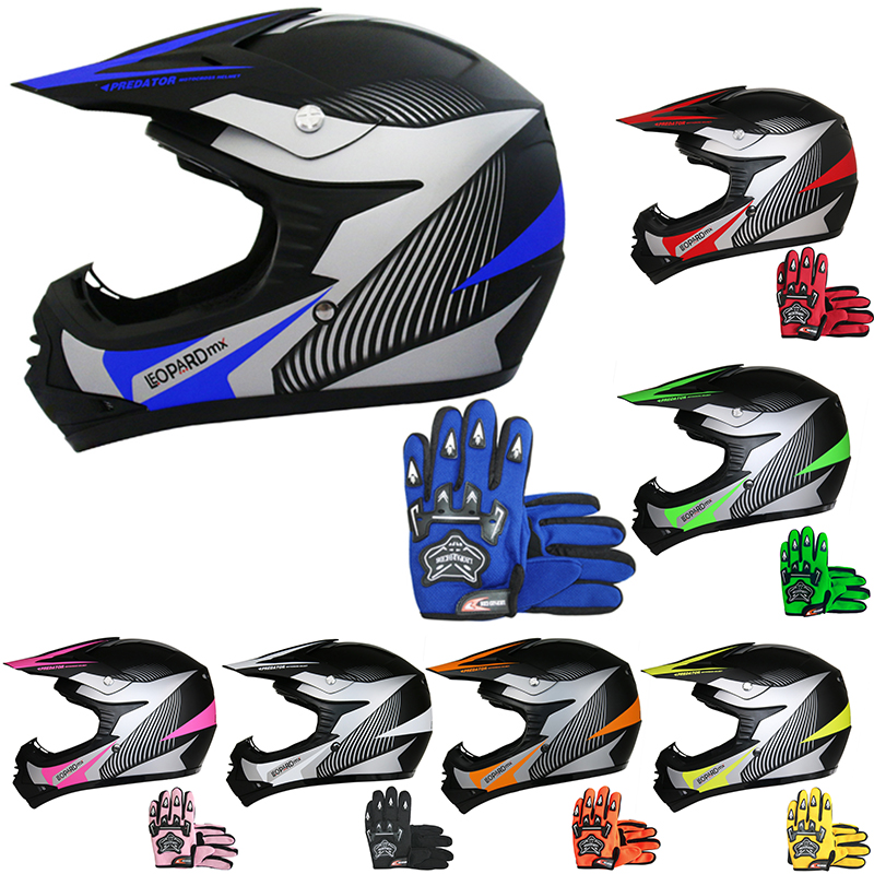 3GO KIDS MOTOCROSS HELMET XK188 Rocky Childrens Motorcycle Quad Bike Dirt Pit Bike Racing Sports Cub Junior Off Road Helmet Red for Boys Girls