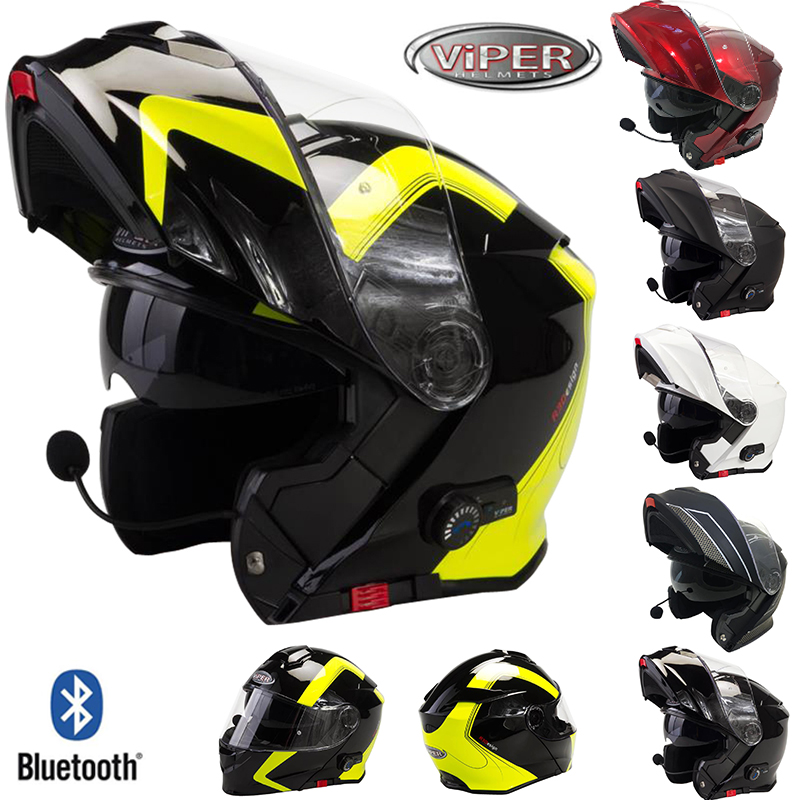 viper rsv171 bl bluetooth klapphelm motorradhelm. Black Bedroom Furniture Sets. Home Design Ideas