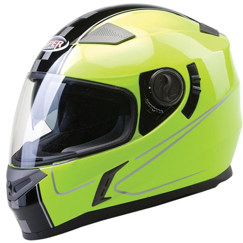 Viper-RSV9-Dimension-Casque-Moto-Casque-Integraux-Pare-soleil-integre-Fluo-Noir