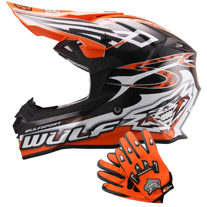 wulfsport sceptre adulte casque de moto cross leopard gants off road atv crash ebay. Black Bedroom Furniture Sets. Home Design Ideas