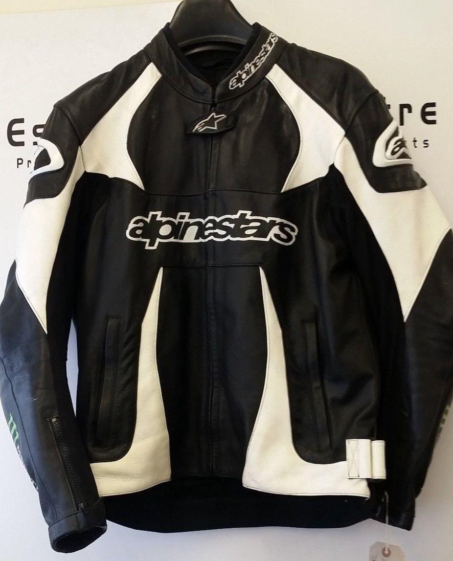 Alpinestars Motorcycle Jacket >> Alpinestars Monster Scream Leather Motorbike Motorcycle Jacket