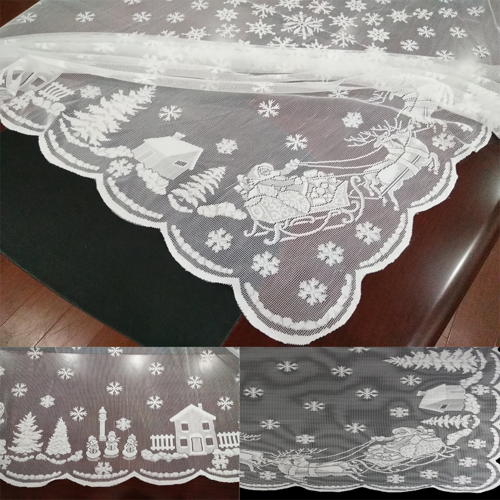 Christmas Table Runner Uk.Details About Christmas Table Cloth Cover Table Runners Vintage Lace Tablecloth Home Party Uk