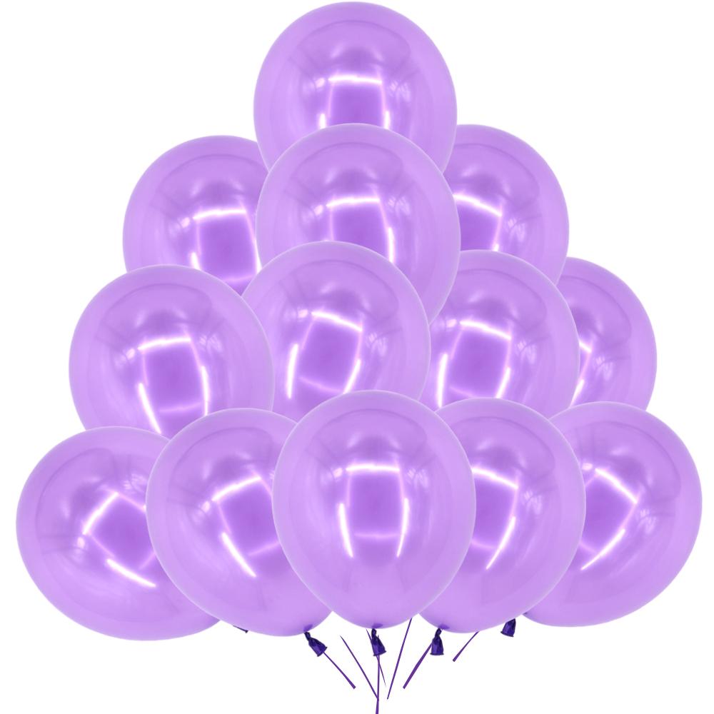 """Violet Métallique 10/"""" Latex Ballons anniversaire mariage toute occasion UK"""