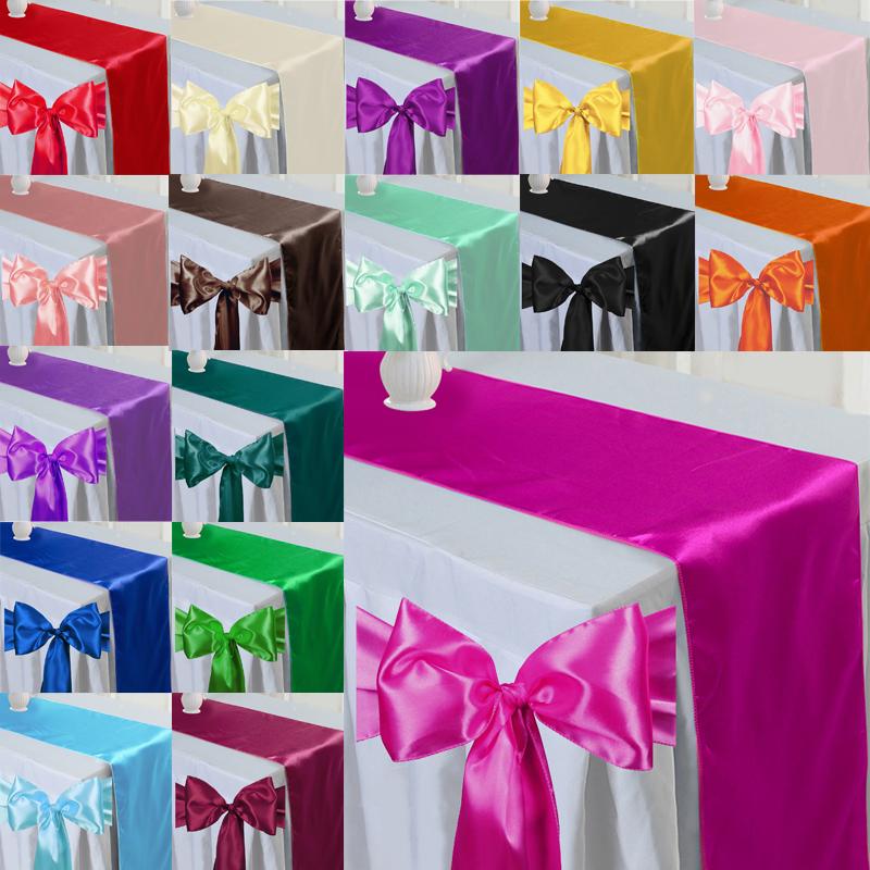 20 farbe Satin Stuhl Schärpe Und Satin Tischläufer Hochzeit Bankett Partei