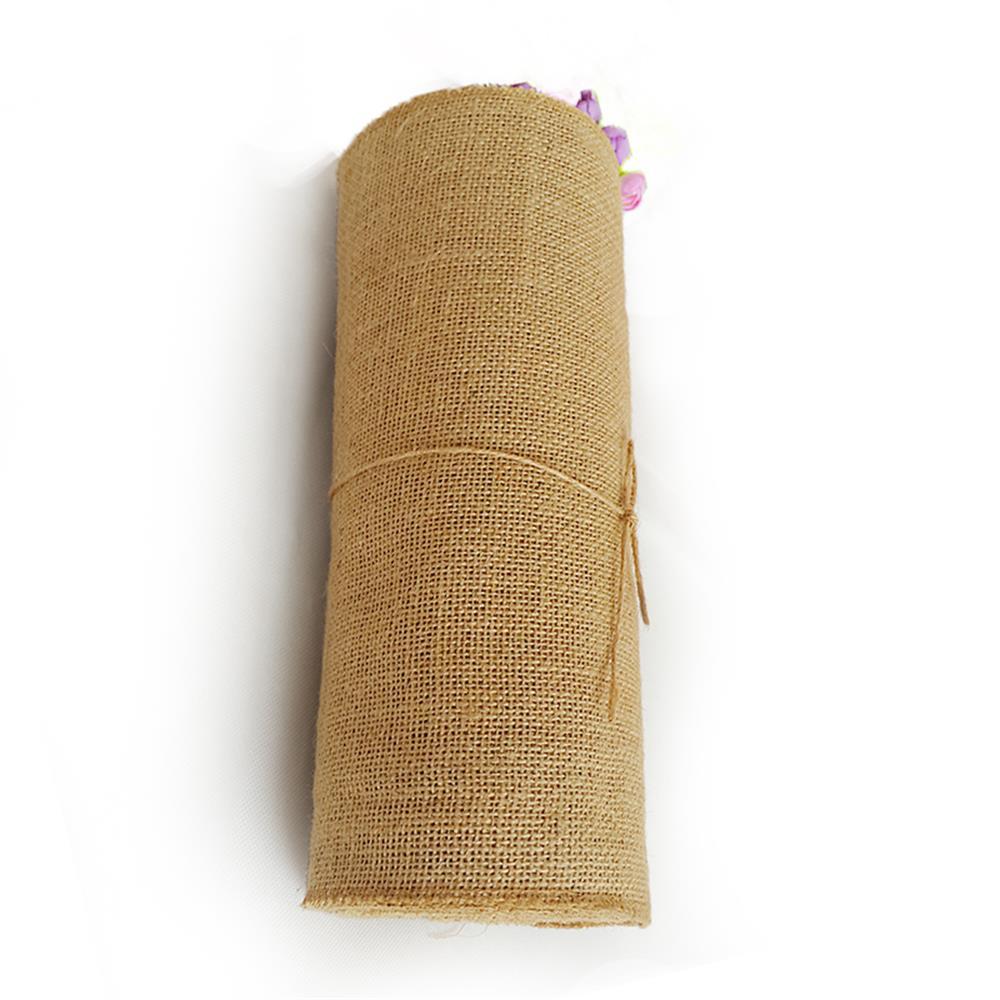 10m 30cm rouleau ruban de toile jute hesse bande diy d coration mariage chaise ebay. Black Bedroom Furniture Sets. Home Design Ideas