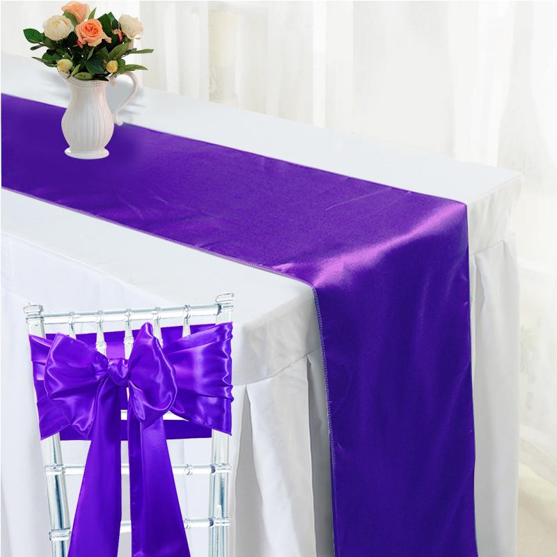 Noeud de chaise satin chemin de table satin mariage - Noeud de chaise en satin ...