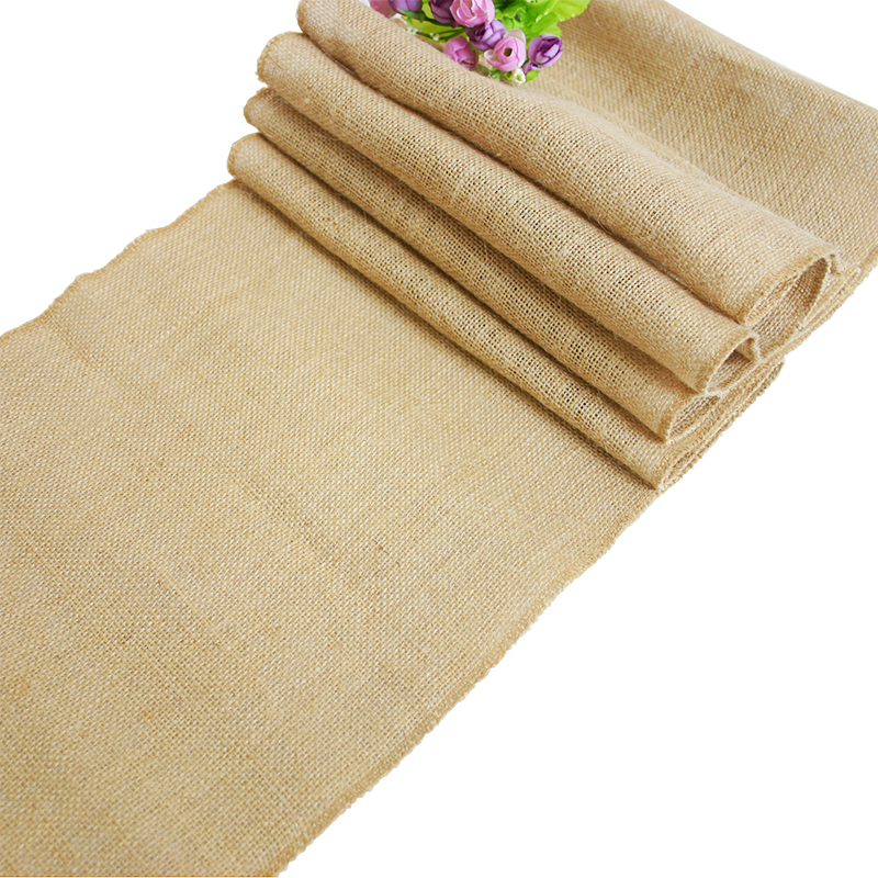 1 5 10 chemin de table en toile de jute avec dentelle 275x30cm rustique mariage ebay. Black Bedroom Furniture Sets. Home Design Ideas